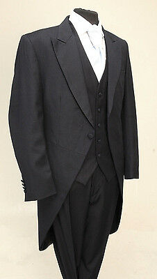 Mj-152 Mens Navy Pinstripe Tail Coat - Wedding Formal - 100% Wool