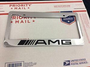 Custom chrome mercedes benz amg personalized license plate for Mercedes benz vanity license plates