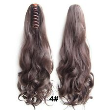 Claw Thick Pony Tail Ponytail Clip In On Hair Extension Wavy Curly Style 22 Inch