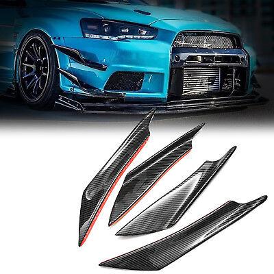 Carbon Fiber Car Rear Bumper Fin Canard Splitter Diffuser Valence Spoiler Lip 2