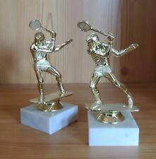10 Pokale Figuren Squash Herren #8 (Pokal Medaillen Tennis Turnier Doppel)