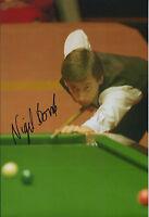 Nigel BOND AUTOGRAPH 12x8 Signed Photo AFTAL COA SNOOKER British Open WINNER