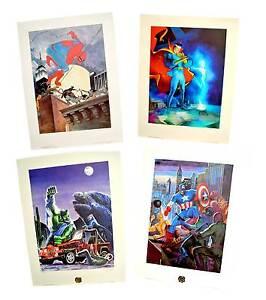 Avengers-4-Pack-Doctor-Strange-Spider-Man-the-Hulk-Captain-America-Signed
