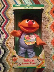 Tyco-Sesame-Street-Talking-Farmer-Ernie-Toy-Boxed-Doll