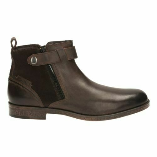 Clarks Brocton Mid Brown WarmLined Leather Men's Boots Size UK 7 - 9 1/2 G