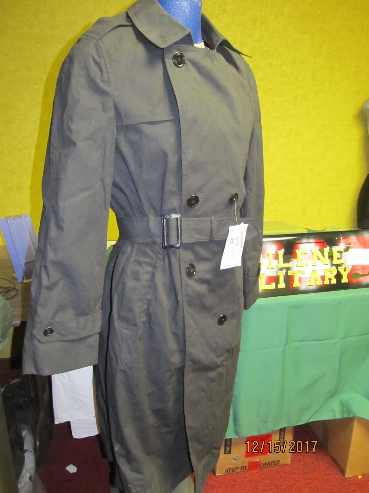 Military Trench Coat Mens All Weather Zip Out Liner 36XS Up To 48R