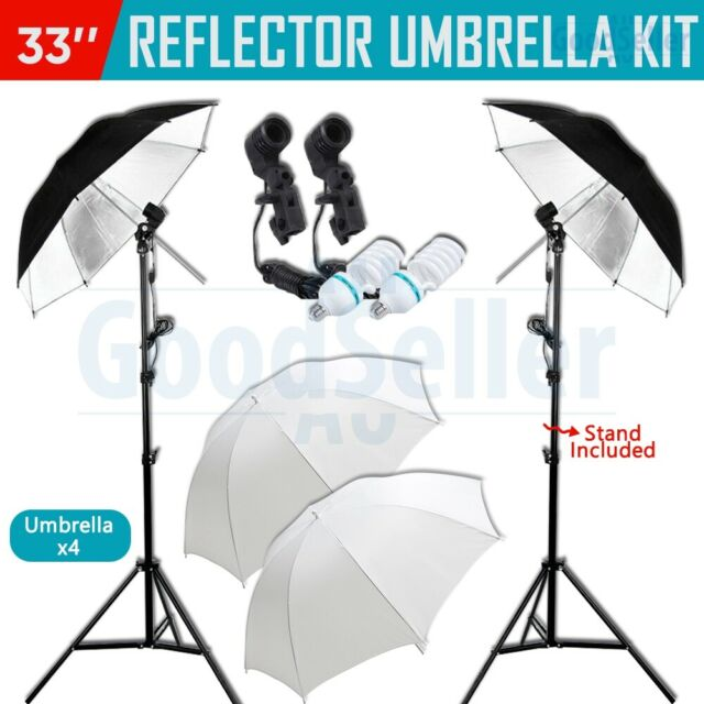 Photography Soft White Umbrella Reflector Continuous Lighting Light Stand Kit AU