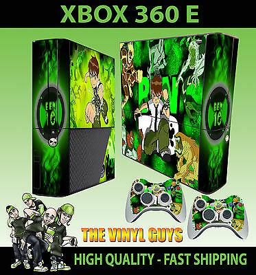 Video Game Accessories Xbox 360 E Ben 10 Tennison Omnitrix Alien Skin Superslim & 2 Pad Skin Shrink-Proof Faceplates, Decals & Stickers