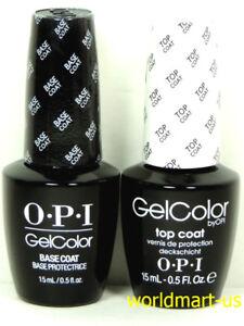 OPI Gelcolor Soak Off Gel Nail Polish Set of Top Coat & Base Coat 15ml /0.5fl.Oz