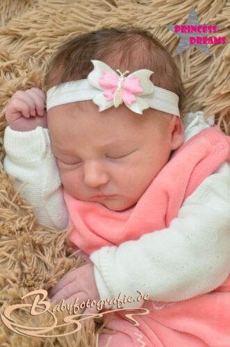 Princess-Dreams Mädchen Baby Haarband 108 Taufe Fotografie Shooting Stirnband