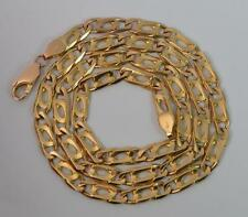 "Heavy 9ct Gold Mens or Ladies 20"" Long Link Chain Necklace p1027"