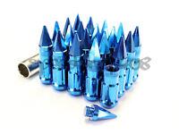 Z Racing Blue Spike Lug Nuts 12x1.5mm Steel Open Extended Key Tuner