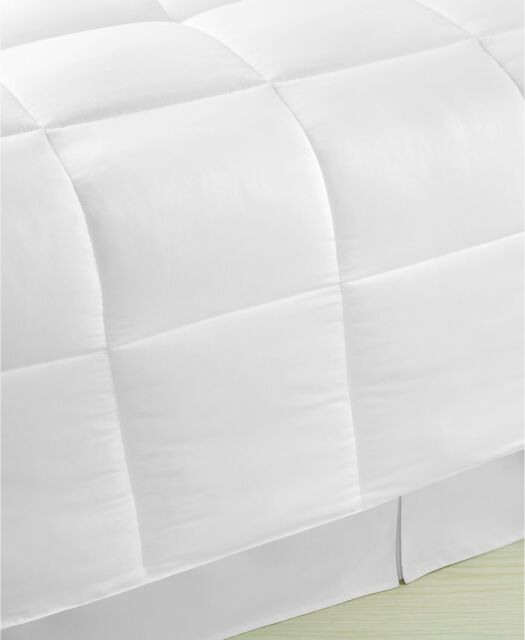 Home Design Down Alternative Comforter FULL/QUEEN White ...
