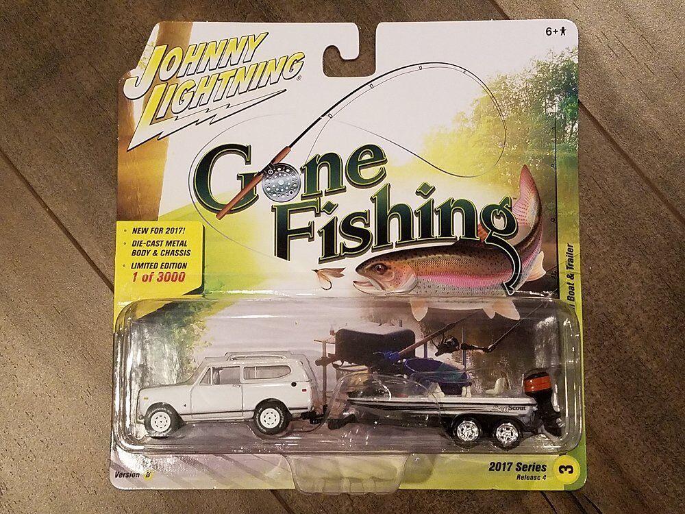 compras online de deportes Johnny Lightning 1 64 Gone Fishing 1979 1979 1979 International Scout II y barco Chase coche  presentando toda la última moda de la calle
