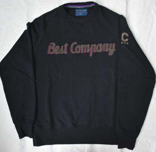 Best Company 1982 Felpa Girocollo 692010 in Nero Various Sizes