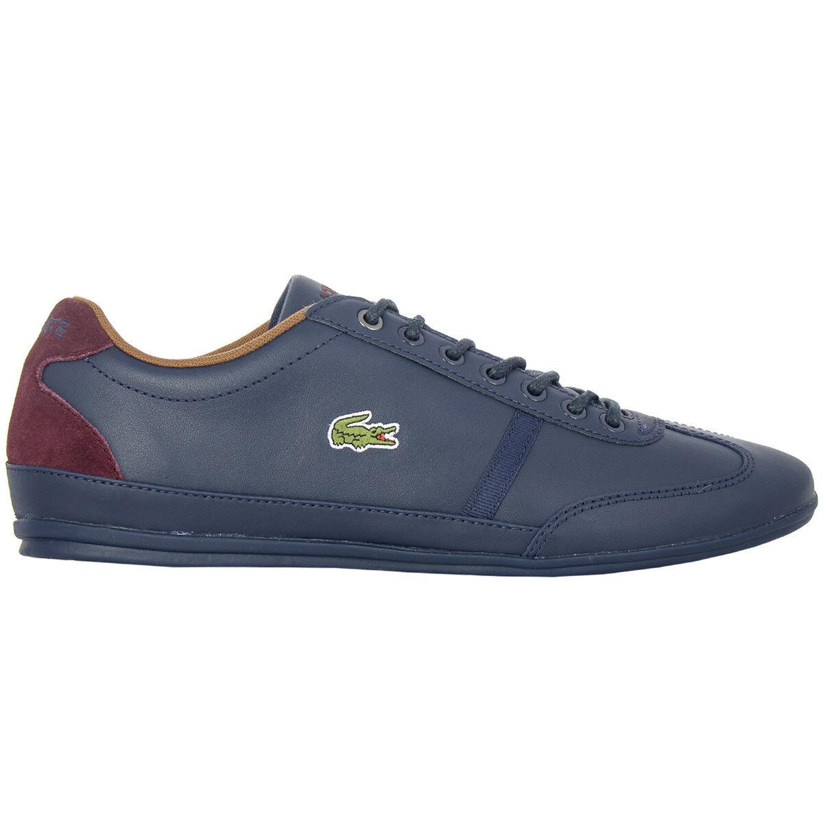 Lacoste Herren Sneaker Misano Sport Leder Navy-Blau Turnschuhe NEU CAM0046003