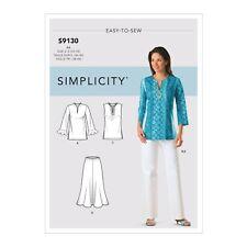 Simplicity 4149 EASY 20-28 Slimming Shirt Loose Pants Flare Skirt Pattern 9130