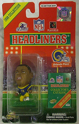 """ST ORLANDO PACE LOUIS RAMS 3/"""" 1998 NFL Headliners Football Collectible Figure"""