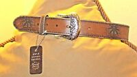 Vintage Inspired Distressed Pot Leaf Belt / S -30/32/ Old Stock / Tags