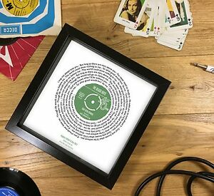 Personalised Vinyl Record Print - PERFECT FATHER'S DAY GIFT - Any song lyrics