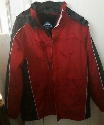 Mens Location Rada Waterproof Rain Hooded Jacket Fleece Lined Winter Coat