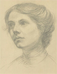 Dorothy Levett - Early 20th Century Graphite Drawing, Young Woman Graphite Study