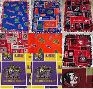 Various Teams NCAA Fleece Fabric Baby Blankets