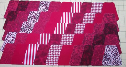 """100 3 1//2/"""" 3/"""" Finished Pre Cut Quilt Quilting Tumblers Red Cherry"""