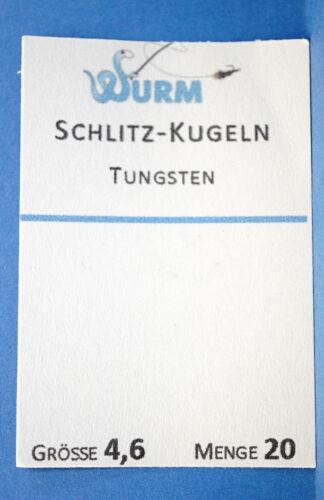 Tungsten Schlitz Kugeln 20 pc Ø2,8 Ø3,3 Ø3,8 Ø4,6mm 97/% reines Tungsten ORANGE