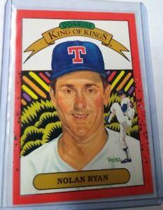 1989 Donruss Nolan Ryan King Of Kings RARE ERROR No Number Variation(#665)NM/M