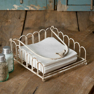 New French Country Farmhouse Chic Primitive Galvanized Wire Soap Dish Holder