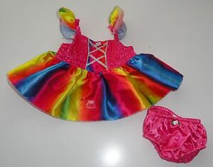 Build-A-Bear-Clothes-Colorful-Satin-Dress-amp-Panties