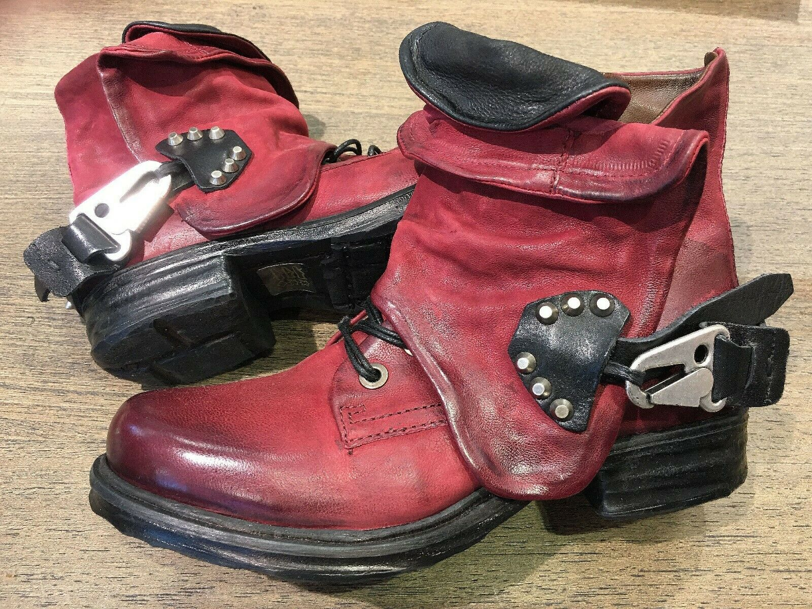 Stiefel Airstep AS98 A.S.98 Stiefel 41 40 39 38 37 Gr. Rot