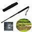 plastic Premium  56cm Outdoor Durable Black Telescopic Stick Whip Protect