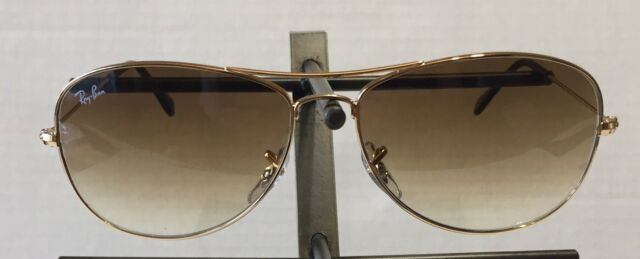 New RAY BAN Sunglasses COCKPIT Gold RB 3362 001 51 Brown Gradient Lenses  59mm fe1945d932
