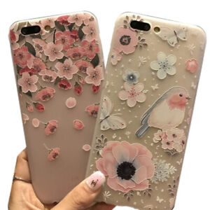 Flower-Style-TPU-Phone-Case-For-iPhone-x-6-6S-7-8-Plus-XS-XR-XS-PL