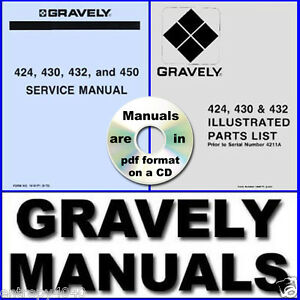 GRAVELY 424 430 432 450 Shop SERVICE & PARTS Manual Engine -200- MANUALS on CD - New York, New York, United States - GRAVELY 424 430 432 450 Shop SERVICE & PARTS Manual Engine -200- MANUALS on CD - New York, New York, United States