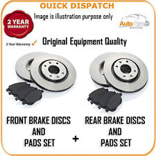 16814 FRONT AND REAR BRAKE DISCS AND PADS FOR TOYOTA AVENSIS 1.6 V-MATIC 7/2009-