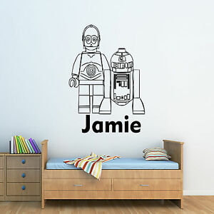Candide Personnalisé Star Wars R2d2 & C3p0 Wall Art Autocollant-enfants Chambre à Coucher-afficher Le Titre D'origine Avoir Un Style National Unique