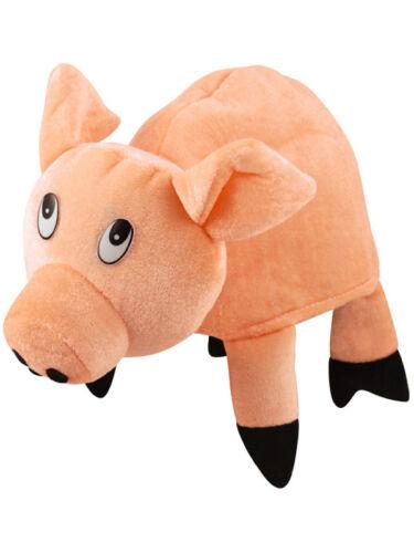 Peluche adultes cochon drôle de ferme robe fantaisie animaux ferme PIGGLET chapeau accessoire
