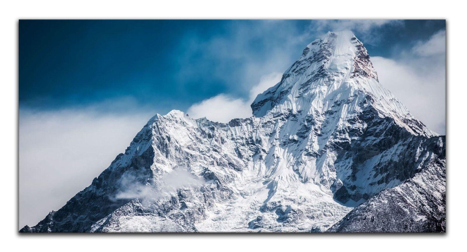 Leinwand Panorama Bild Wandbild Keilrahmenbild Berge Nepal Everest