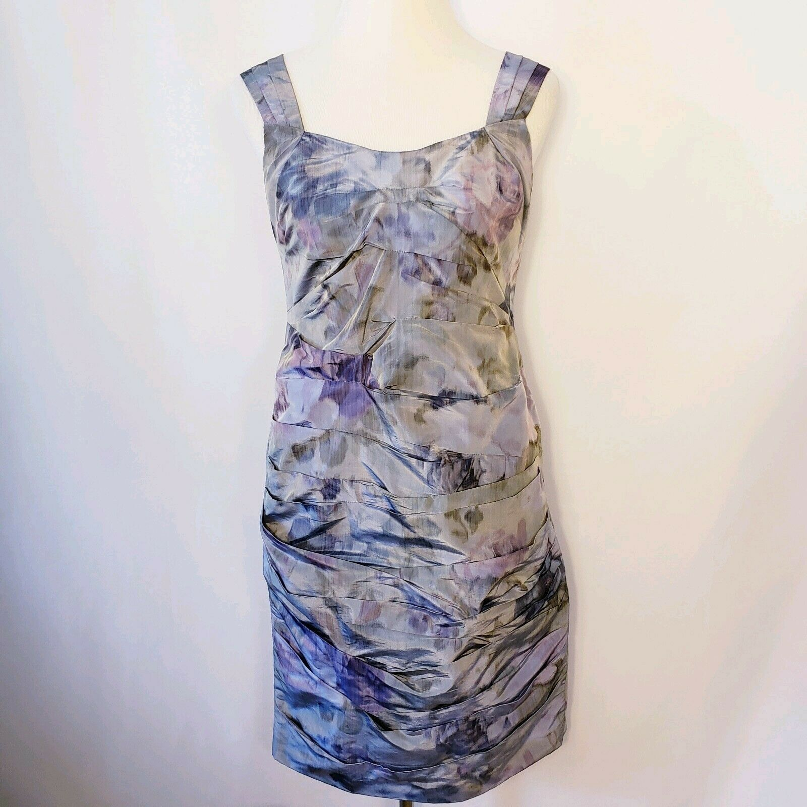 Peruvian Connection damen Sz 6 Ruched WaterFarbe Floral Taffeta Dress Party