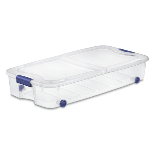 66 Qt.//62 L Ultra? Storage Box Stadium Blue Sterilite Case of 4