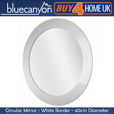 Blue Canyon bianco bordo tondo Specchio del Bagno-parete CERCHIO DIAMETRO 40cm
