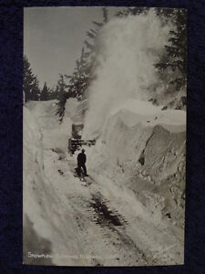 Scarce-1940s-COLORADO-Highway-Truck-ROTARY-SNOW-PLOW-Snowplow-CO-Postcard-RPPC
