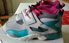 Nike Men's Sneakers Air Diamond Turf  Gray/Teal/Magenta Size 9.5 309434-063