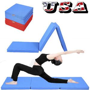 Folding-Panel-Gymnastics-Mat-Gym-Fitness-Exercise-Stretching-Yoga-Tumbling-Thick