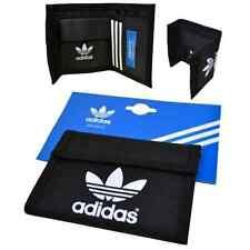 adidas originals wallet multi fold black nylon retro rare new x34008