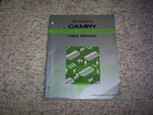 1993 Toyota Camry Electrical Wiring Diagram Manual Le Se Xle Wagon Deluxe