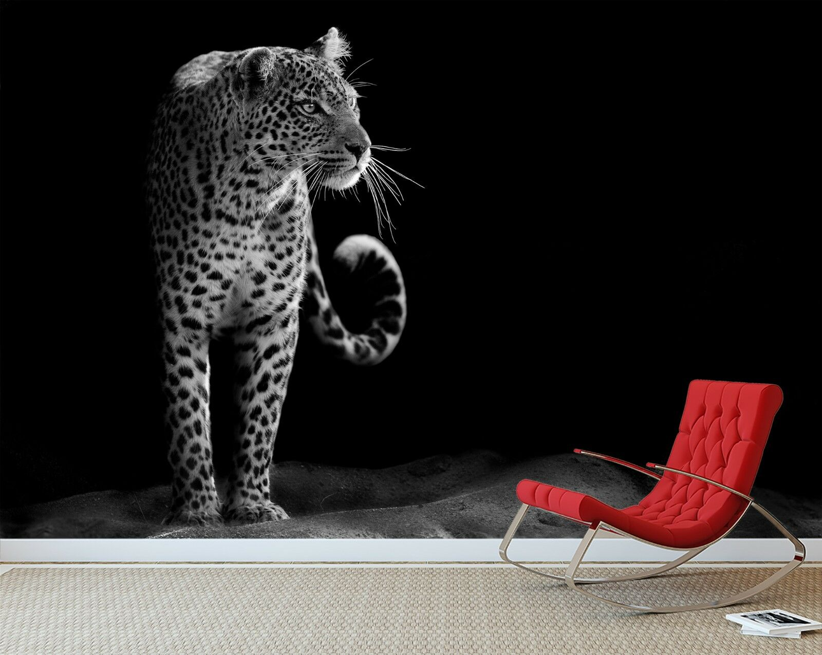 3D Dark Cool Leopard 43 Wallpaper Murals Wall Print Wallpaper Mural AJ WALL AU